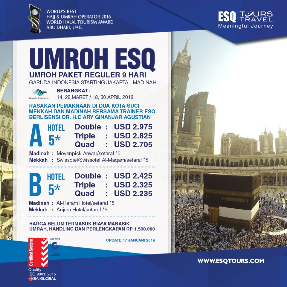 ESQ Tours Travel | Paket Umroh 2018