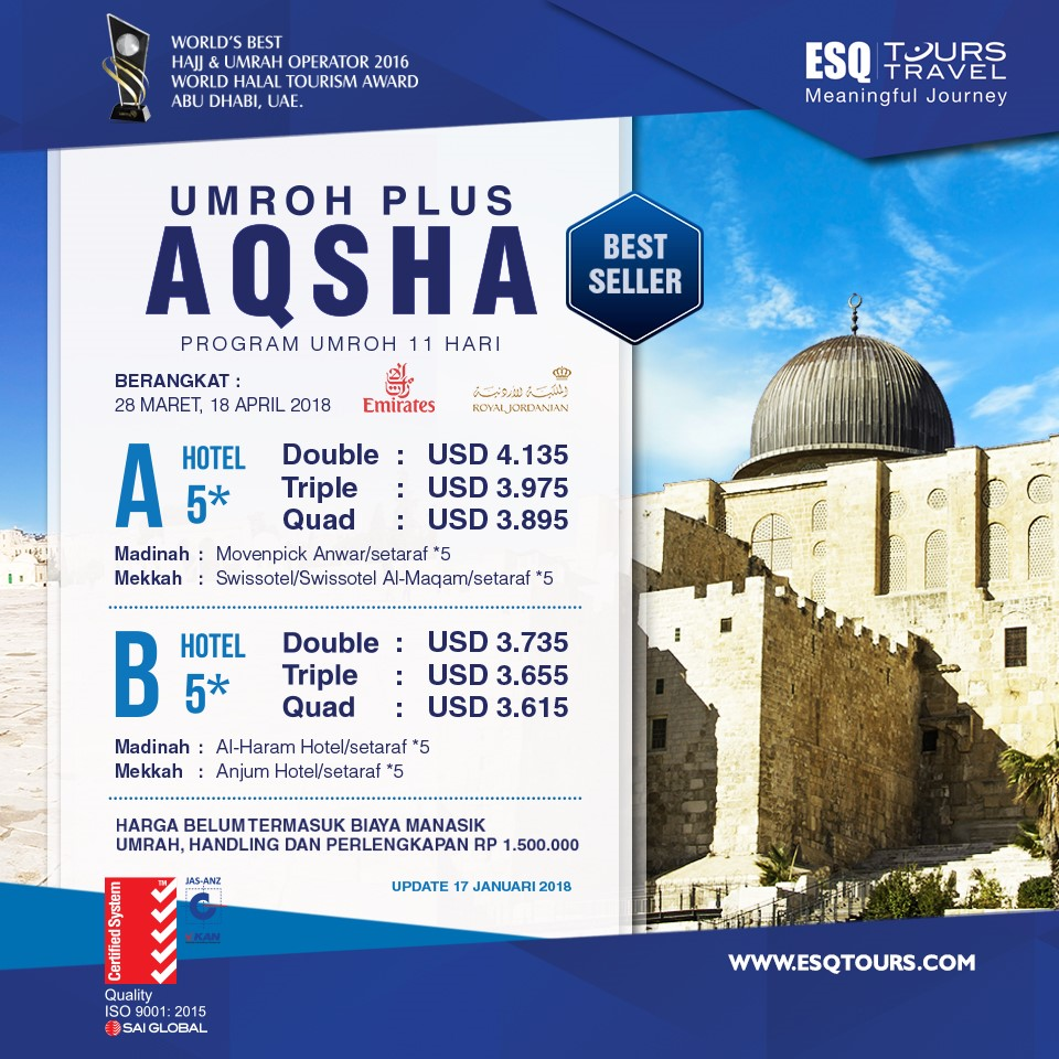 esq tours travel | paket umroh plus aqsha